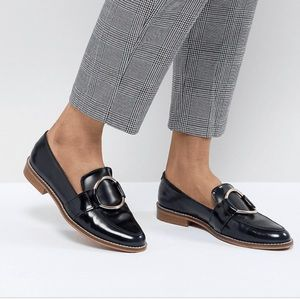 New- ASOS Leather Ring Loafers